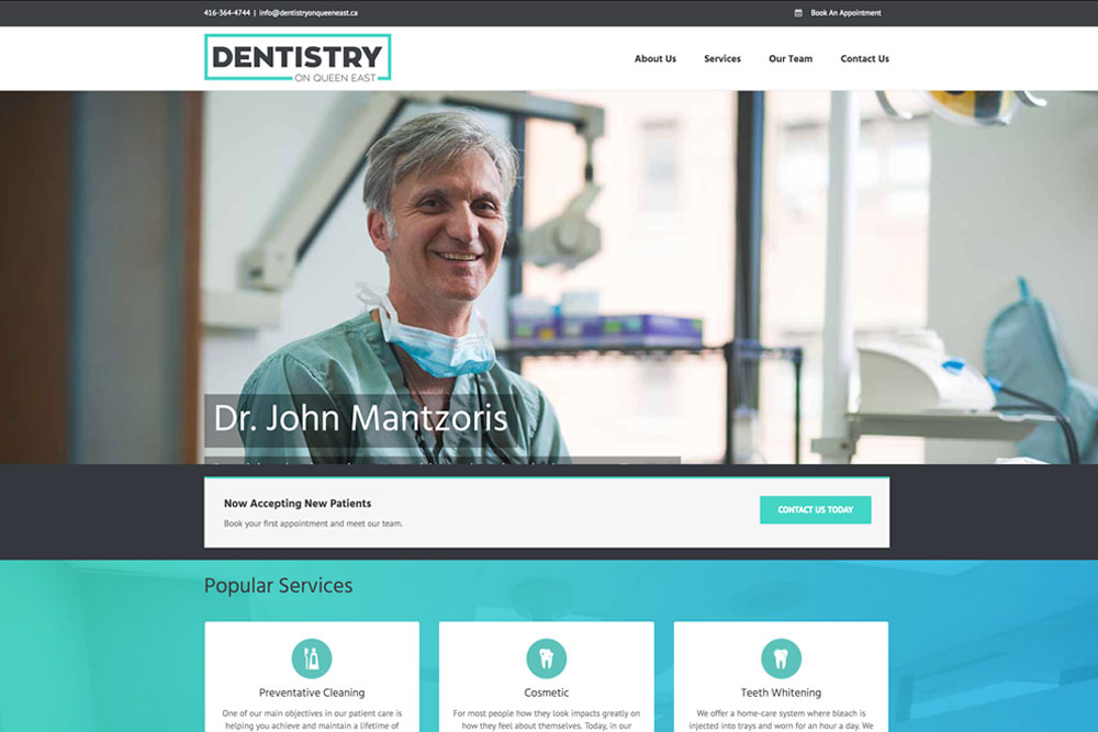 exemple site internet dentiste - clinique dentaire