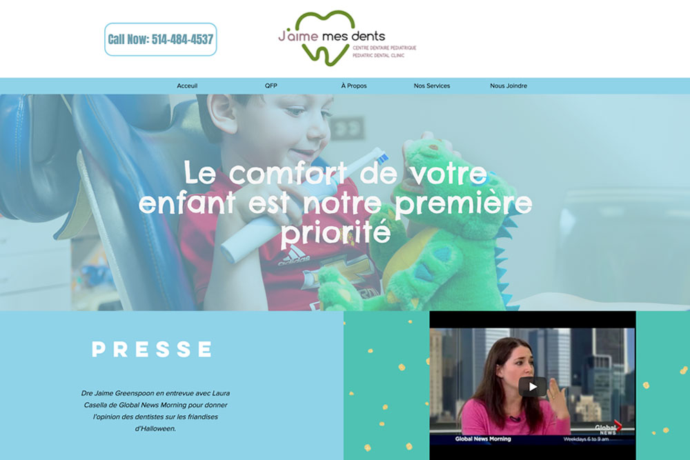 exemple d'un site web dentiste - clinique dentaire