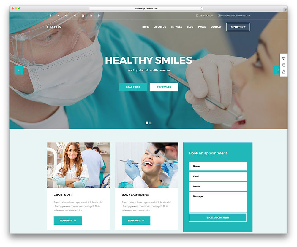 illustration site Internet dentiste